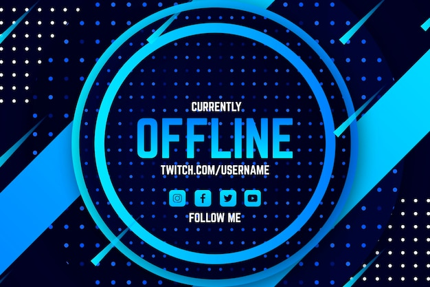 Abstracte offline twitch banner
