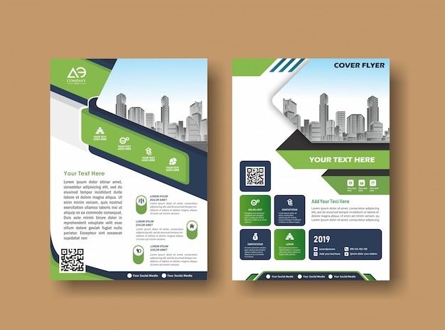 Abstracte omslag en lay-out voor presentatie en marketing