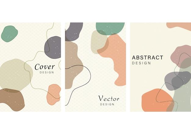 Abstracte omslag met japanse stijl, abstracte vloeiende vormen.