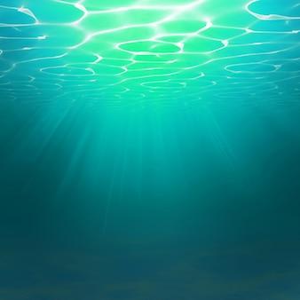 Abstracte onderwater achtergrond met water golven effecten