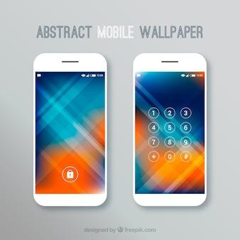 Abstracte ongescherpte mobiele wallpapers