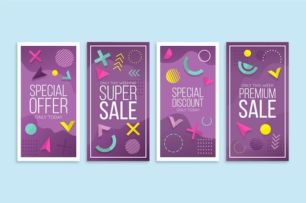 Abstracte ontwerp instagram verkoopverhalen