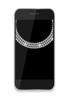 Abstracte ontwerp mobiele telefoons. vectorillustratie eps10