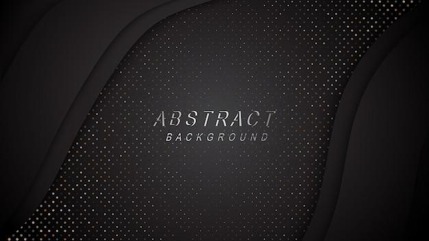 Abstracte ontwerpachtergrond met metalen schittert puntendecoratie