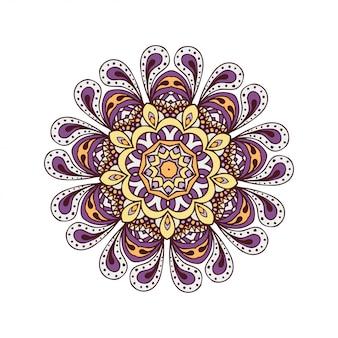 Abstracte ontwerpelementen. ronde mandala's in vector. grafische sjabloon voor uw ontwerp. decoratief retro ornament