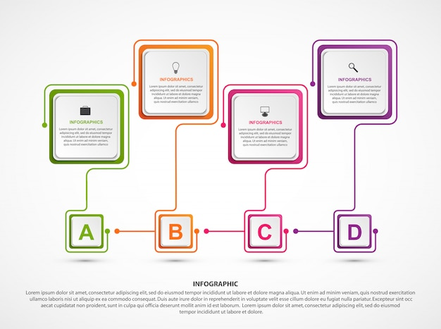 Abstracte opties infographics sjabloon.