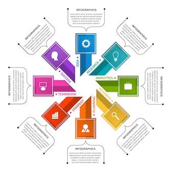 Abstracte opties infographics sjabloon.