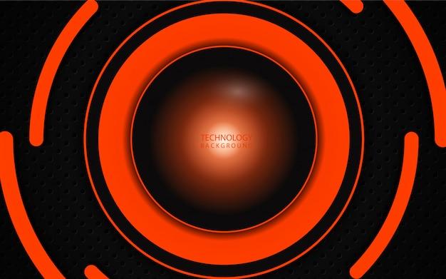Abstracte oranje cirkel op donkere achtergrond