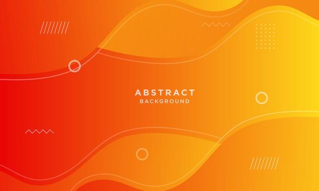 Abstracte oranje dynamische papercutachtergrond met de stijl van memphis