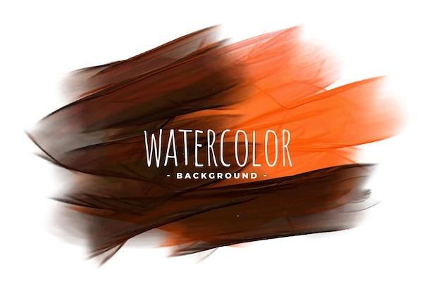 Abstracte oranje en zwarte aquarel textuur achtergrond