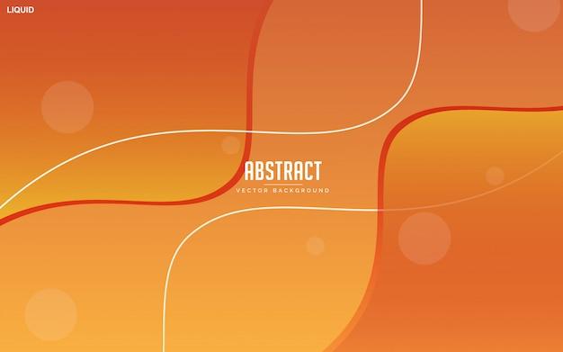 Abstracte oranje vloeibare achtergrond