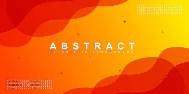 Abstracte oranje vloeibare vorm moderne achtergrond