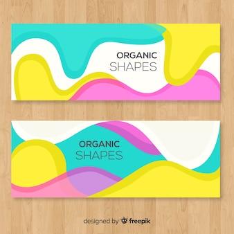 Abstracte organische vormbanners