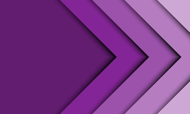 Abstracte paarse 3d pijl lijn overlappende achtergrond. ontwerp voor uw presentatie.