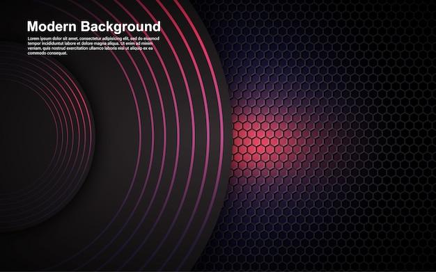 Abstracte paarse dimensie als achtergrond op moderne zwart