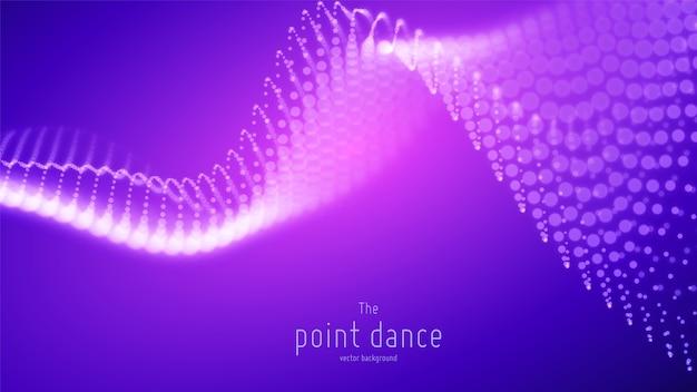 Abstracte paarse golf futuristisch. technologie digitale achtergrond