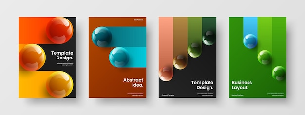 Abstracte pamflet a4 ontwerp vector sjabloon samenstelling