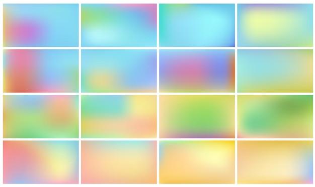Abstracte panorama's met licht. natuur achtergronden