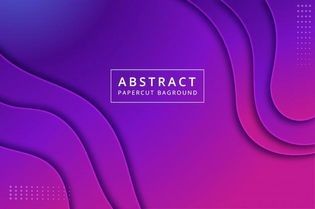 Abstracte papercut achtergrond. textuurontwerp in levendige blauw paars roze kleur