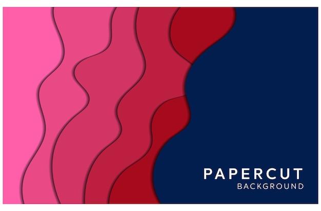 Abstracte papercut-achtergrond
