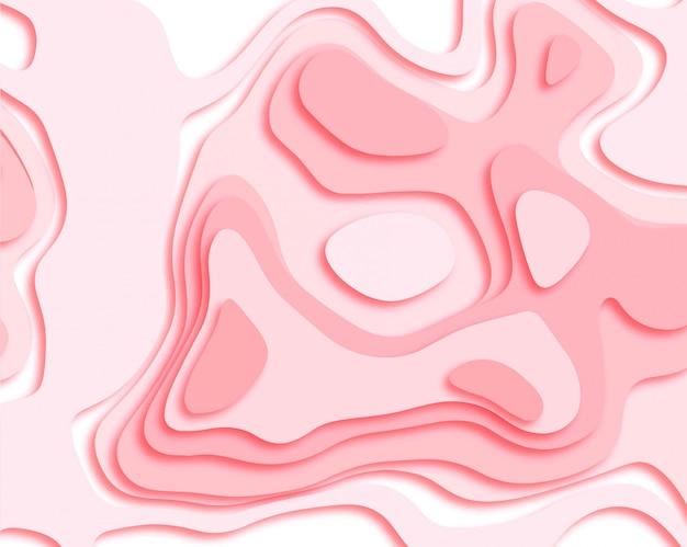 Abstracte papercut vlotte roze vector als achtergrond