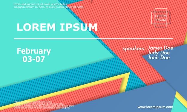 Abstracte papier gesneden achtergrond. kleurrijke geometrische bestemmingspagina