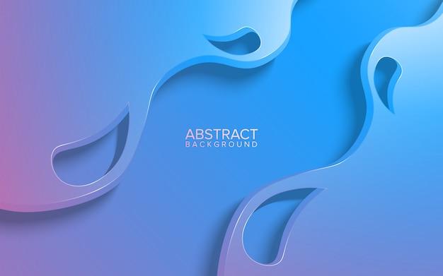 Abstracte papier gesneden achtergrond met kleurovergang blauwe en roze kleur