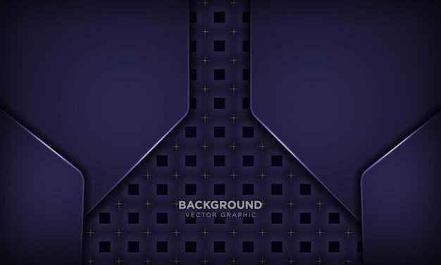 Abstracte papierstijl paarse dynamische achtergrond met metallic effect en vierkant patroon