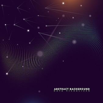 Abstracte partikels futuristische achtergrond
