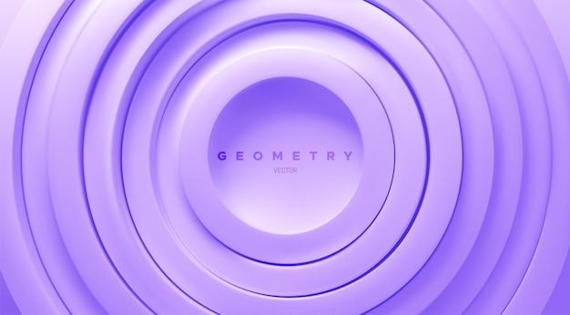Abstracte pastel achtergrond met paarse concentrische ringen