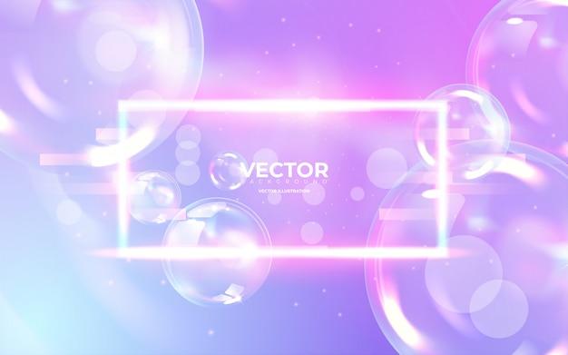 Abstracte pastel gekleurde achtergrond met glanzende bubbels. bg met bokeh. dream pearl illustratie