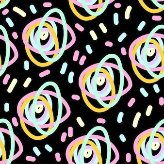 Abstracte pastel gekleurde naadloze patroon. moderne staalverf voor verjaardagskaart, uitnodiging voor kinderfeestje, behang, vakantiepapier, winkelverkoopposter, tasafdruk, t-shirt, workshopreclame.