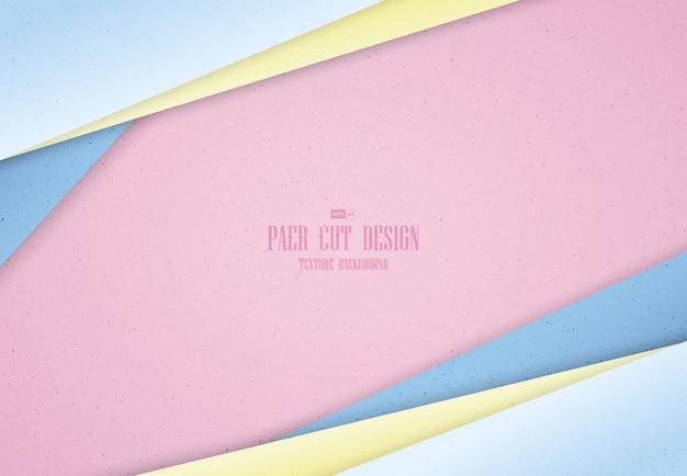 Abstracte pastel kleur voor de kleurovergang van papier knippen sjabloon ontwerp achtergrond.