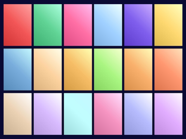 Abstracte pastel kleurverloop achtergronden collectie