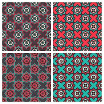 Abstracte patronen met etnische ornament