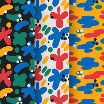 Abstracte patroon collectie hand getrokken