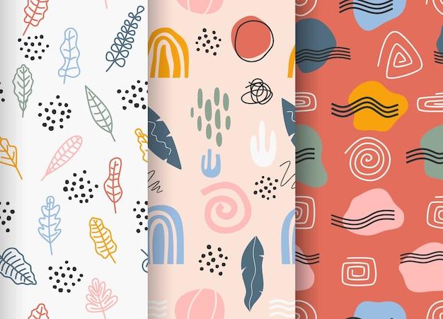 Abstracte patrooncollectie getekend.