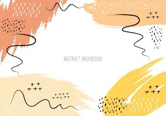 Abstracte penseelstreek achtergrond.