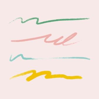 Abstracte penseelstreek element vector