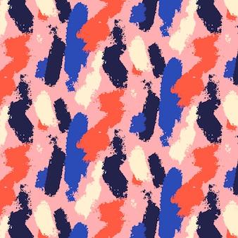 Abstracte penseelstreek patroonstijl