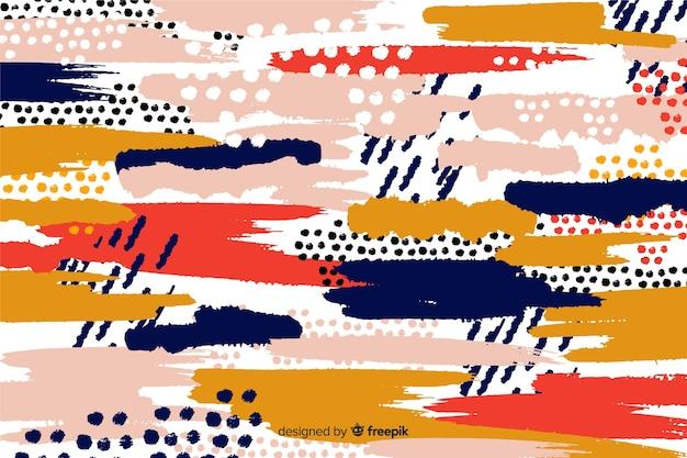 Abstracte penseelstreken ontwerp achtergrond
