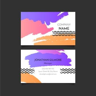Abstracte penseelstreken visitekaartje