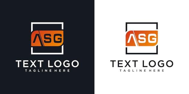 Abstracte pictogrammen voor eerste letter asg pictogram logo ontwerpsjabloon