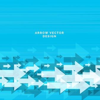 Abstracte pijl blauwe achtergrond ontwerp