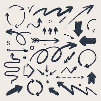 Abstracte pijl iconen set