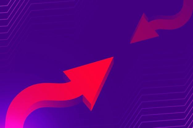 Abstracte pijlachtergrond, paarse gradiënttechnologie start vector