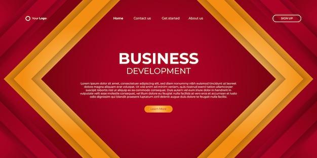 Abstracte pijlachtergrond voor bedrijfslandingspagina met moderne vorm en eenvoudig technologieconcept. corporate webdesign bestemmingspagina blok vector illustratie sjabloon.