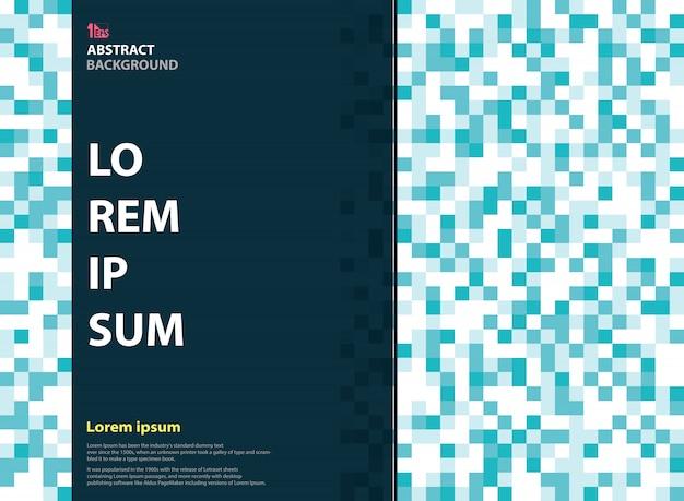 Abstracte pixel blauwe kleur van het ontwerp van de tijdschriftdekking
