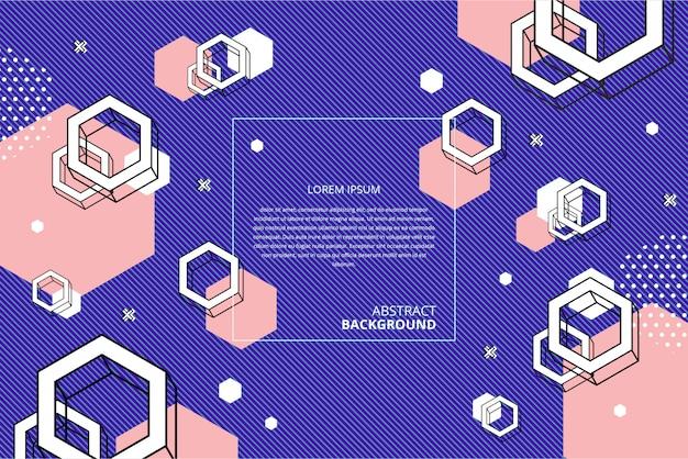 Abstracte platte geometrische zeshoek achtergrond