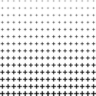 Abstracte plus vorm patroon halftone achtergrond